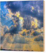 Sun Beams-4 Wood Print