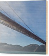 Sun Beams Through The Golden Gate Wood Print