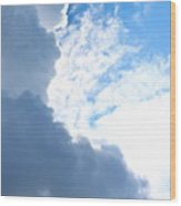 Sun Behind The Clouds 3 Wood Print