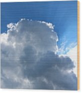 Sun Behind The Clouds 4 Wood Print