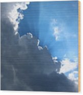 Sun Behind The Clouds 7 Wood Print