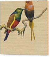 Sun Birds Wood Print
