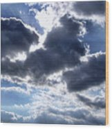 Sun Breaking Through The Clouds Wood Print by Mariola Bitner