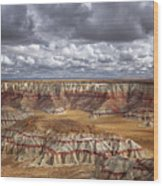 Sun Breaks And Passing Clouds Over Arizona's Remote Ha Ho No Geh Canyon. Wood Print