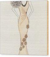 Sun Burst Gown Wood Print