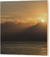 Sun Cloud Mountain Wood Print