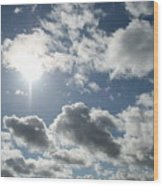 Sun Clouds Wood Print
