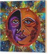 Sun Duality Wood Print