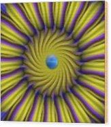 Sun Flower Wood Print by Bobby Hammerstone