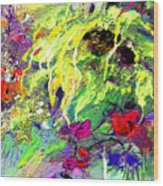 Sun Flower Bouquet Wood Print
