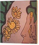 Sun Flower Conection Wood Print