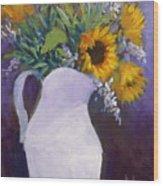 Sun Flower Song Wood Print