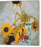 Sun Flowers No.1  Wood Print
