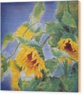 Sun Flowers No.3 Wood Print