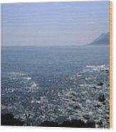 Sun Glints Off Te Ocean Near Cape Wood Print