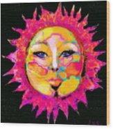 Sun Goddess She Sun Wood Print