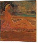 Sun Goddess Wood Print by Marie Bulger