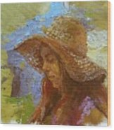 Sun Hat #1 Wood Print
