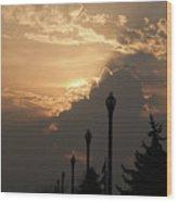 Sun In A Cloud Of Glory Wood Print