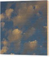 Sun Kissed Clouds Wood Print
