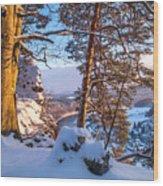Sun-kissed. Saxon Switzerland Wood Print
