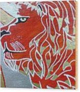 Sun Lion Wood Print