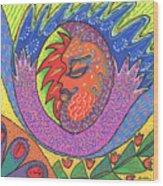 Sun Man Wood Print