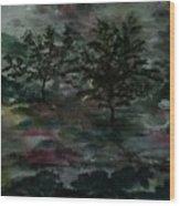 Sun Meadow Wood Print