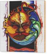 Sun Moon Wood Print by Anthony Burks Sr