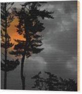 Sun Over Spring Ridge Wood Print