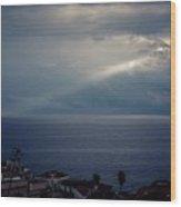 Sun Ray On The Med Wood Print