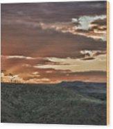 Sun Rays On Colorado Sage Wood Print