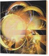 Sun Rings Spiral Wood Print