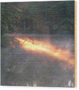 Sun Rise Across The Lake Wood Print