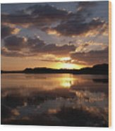 Sun Rise At West Lake In The Everglades Wood Print