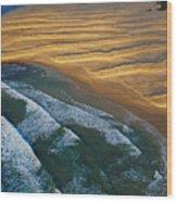 Sun Rise Coast  Wood Print