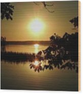 Sun Rise, Hamlin Lake Photograph Wood Print