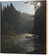 Sun Rising Wood Print