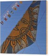 Sun Sailing Wood Print