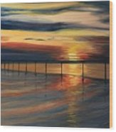 Sun Set At Seabridge Wood Print