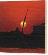 Sun Set Wood Print by Chaza Abou El Khair