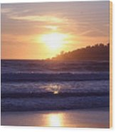 Sun Set In Carmel Wood Print by Ofelia  Arreola