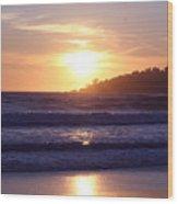 Sun set in Carmel Wood Print