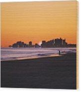 Sun Set Myrtle Beach Wood Print