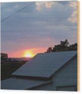 Sun Set On Barn  Wood Print
