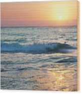 Sun Sets Over Seven Mile Beach Wood Print