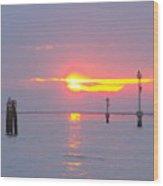 Sun Sets Over Venice II Wood Print