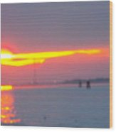 Sun Sets Over Venice IIi Wood Print