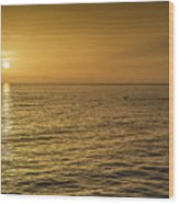 Sun Setting In Barbados Wood Print