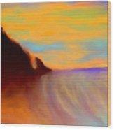 Sun Setting On Friars Bay Wood Print